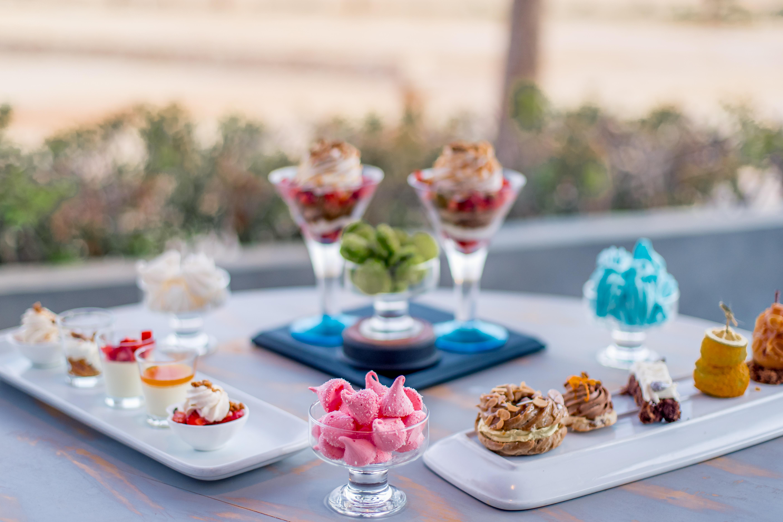 Various dessert in Dakhla Evasion Restaurant