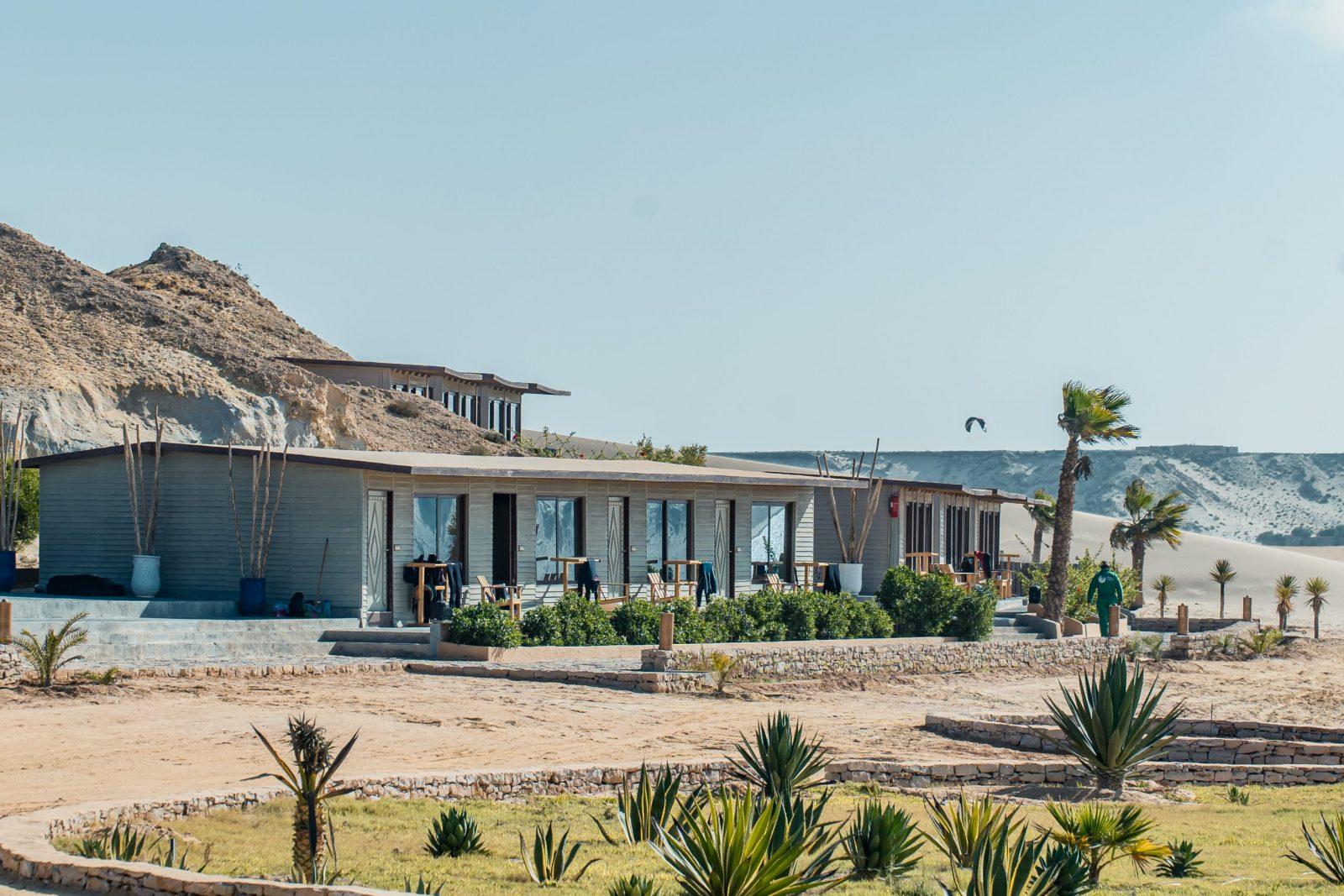 Vue générale des bungalows